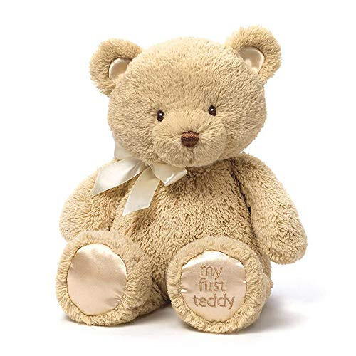 (Baby GUND My First Teddy Bear Stuffed Animal Plush, Tan, 15