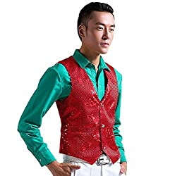 Men's Stage Show Sequined Vest