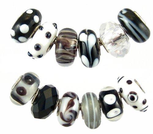12 Pc Charm Bead Set - Exact Assortment as Shown (F129)