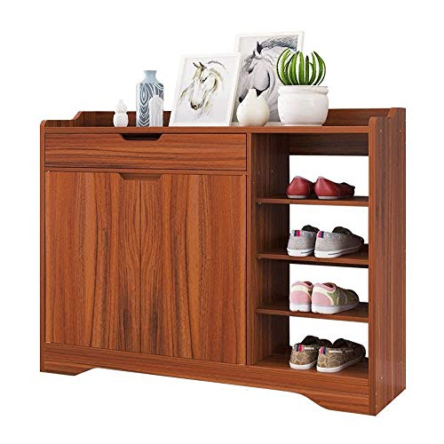 (Shoe Rack, Entrance Hall Balcony Shoe Cabinet Simple Modern Assembly for Hallway Living Room Bedroom (Color : Ancient Ebony Color, Size : 99.33080cm))