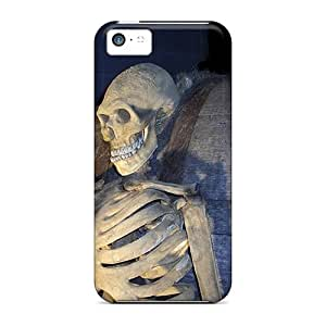 Protective Tpu Case With Fashion Design For Iphone 5c (3d Skeleton)