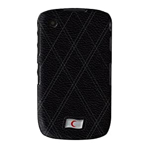Stylish Black Leather Flag of Red Crescent abrigo lleno carcasa Blackberry Curve 8520/8530/9300/9330 de UltraFlags