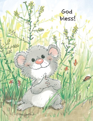 (Suzy's Note Card Collection Stationery, God Bless Mouse - 10872)