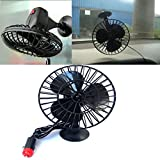 Yosoo 12v Mini Motor Air Fan Powered Truck Car Vehicle Cooling Adsorption With Suction Cup