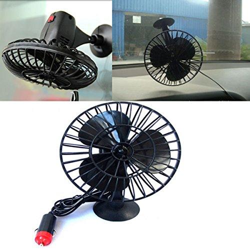 Yosoo 12v Mini Motor Air Fan Powered Truck Car Vehicle Cooling Adsorption With Suction Cup (Mini Car Fan)