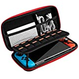 VicTsing Switch Carry Case for Nintendo Switch and Accessories Portable Protective Carrying Pouch With Exterior EVA Hard Shell and Inner Soft Velvet Travel Bag Games Case for Nintendo Switch Console
