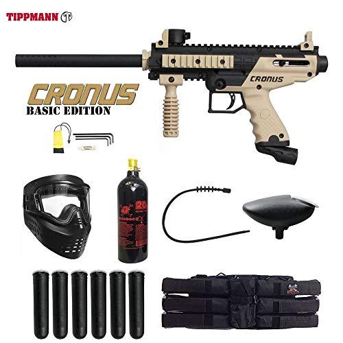 MAddog Tippmann Cronus Basic Titanium Paintball Gun Package - Black/Tan
