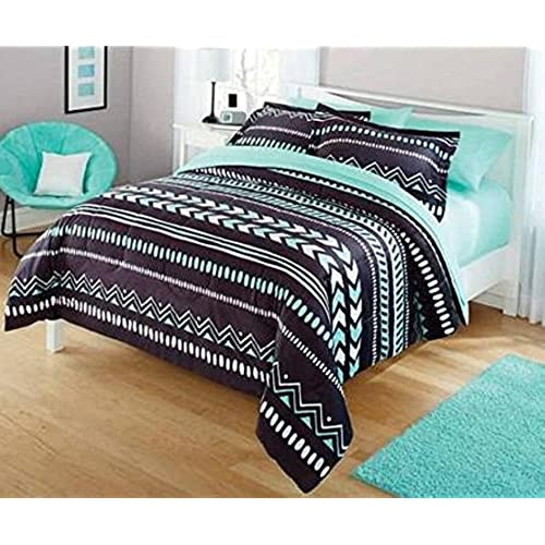 Delicieux Your Zone Tribal Full Bedding Set With Mint Green Sheets Bundle