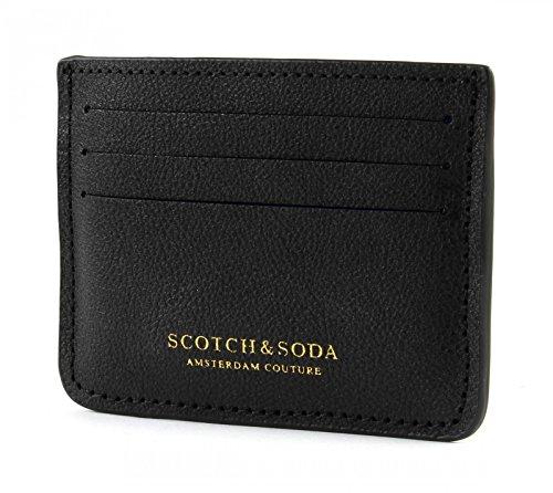 SCOTCH & SODA Classic Leather Card Holder Black