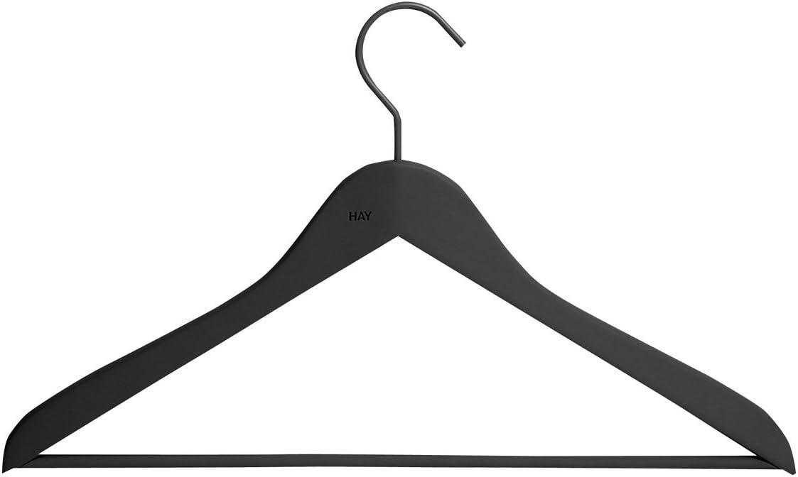 Hay Coat soft coat slim hanger, black (set of 4)
