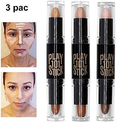 Contour Stick, Concealer Contour, Highlighters Stick, Face Highlighters, 6 Colour Make up Concealer contouring stift, Makeup Double-end Highlight Contour ...