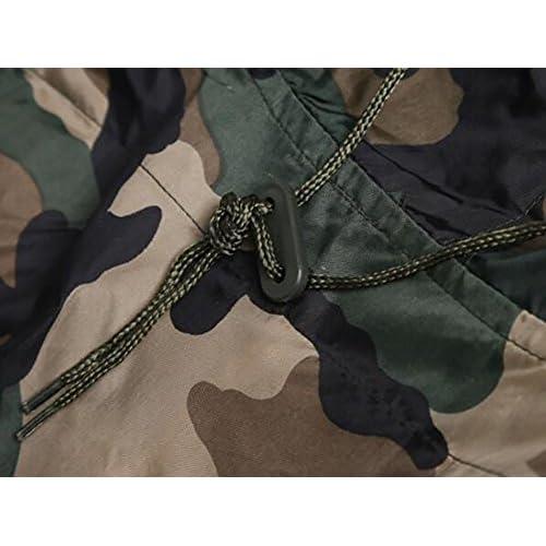 HAI Imperméable PVC Camo Extérieur Imperméable-Capuche Jungle Camouflage Léger Pluie Poncho