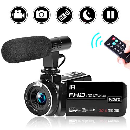 SEREE Camcorder Video Camera Full HD 1080P Night Vision Camcorder Vlogging Camera Blogging Camera 16x Digital Camera Vlog Video Camera for YouTube Videos (2019 Updated Version)