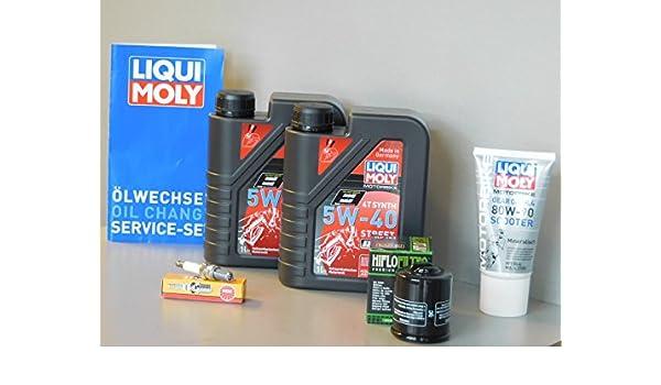 Kit de mantenimiento Piaggio MP3 125 Aceite de aceite Bujía ...
