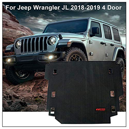 Jeep Cargo Mat - Carpet Rubber Leather Floor Cargo Truck Liner Tray Mat Pad for Jeep Wrangler JL 2018-2019 4 Door models (1941 style)