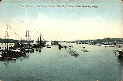 The finish of the Harvard and Yale Boat Race New London, Connecticut Original Vintage Postcard
