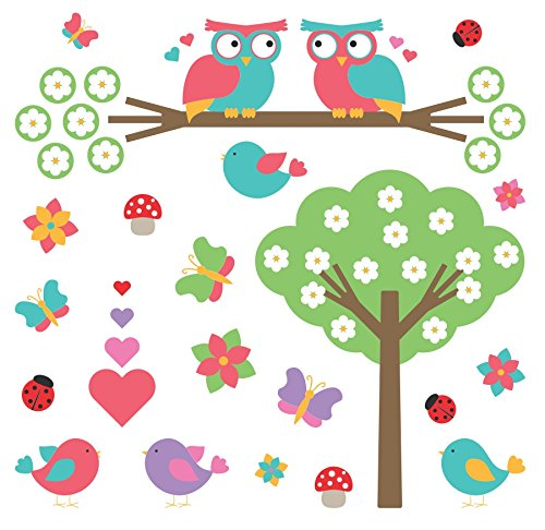 Butterfly Butterflies Flowers Tree Ladybugs and Owls  remova