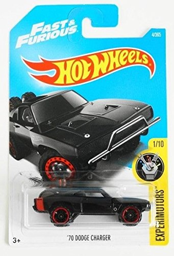Hot Wheels 2017 Experimotors Fast & Furious '70 Dodge Charger 4/365, Black ()