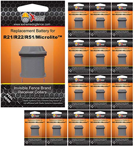 Invisible Fence Collar Compatible Battery - Extended Life High Performance Dog Fence Battery for All Invisible Fence Brand Collar Receivers - 15 Pack