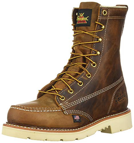 Thorogood 804-4379 Mens American Heritage 8 Round Toe, MAXWear 90 Safety Toe Boot, Trail Crazyhorse - 11 D(M) US