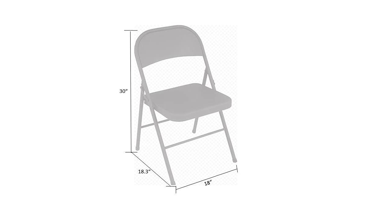 Cosco All Steel 4-Pack Folding Chair, Black
