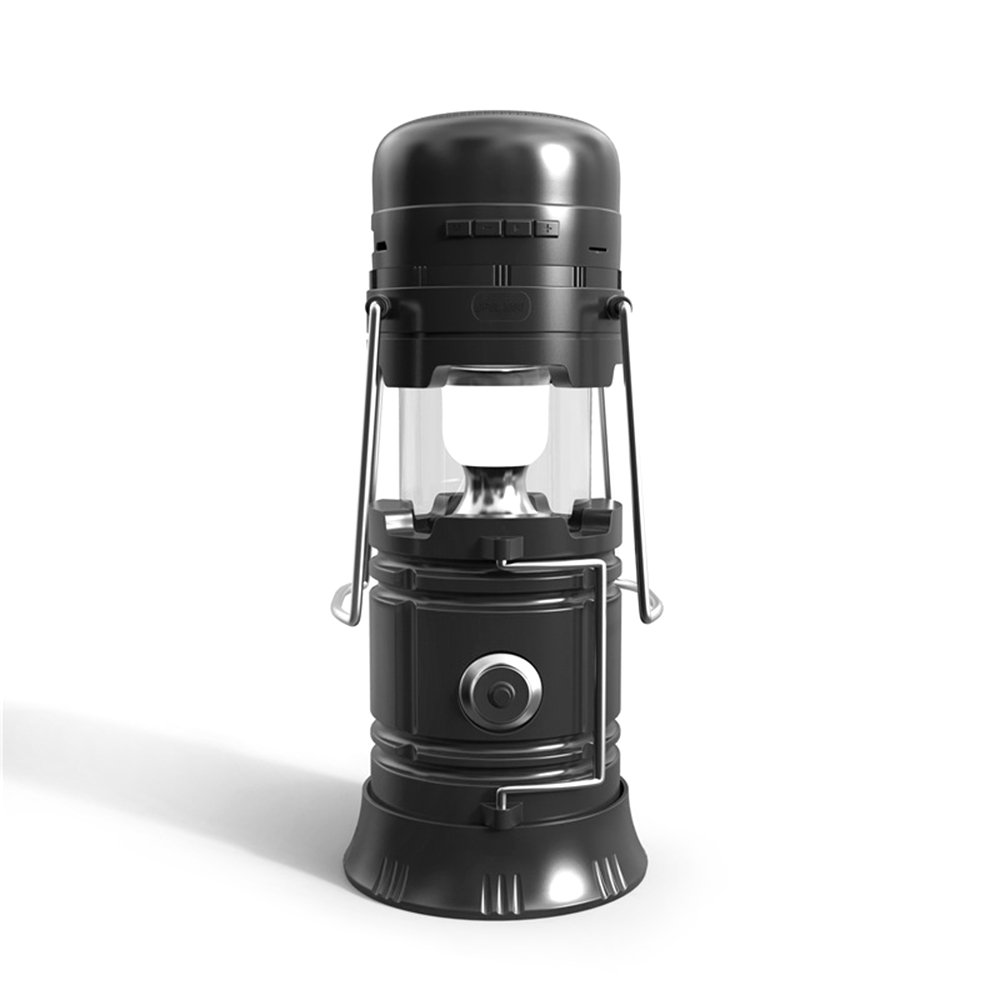 Docooler Multi-functional LED Camping Lantern Wireless BT Speaker 5-in-1 Solar Charging Camping Led Light Flashlight Music Player Suport Outdoor FM Radio Charger TF Card