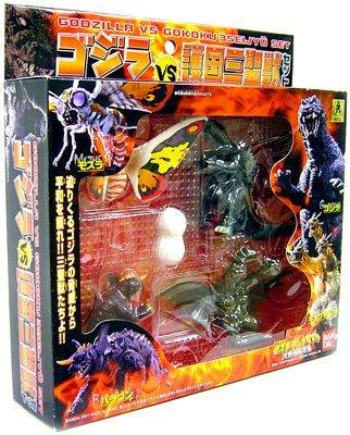 Bandai Godzilla Vs. Gokoku Mini Figures 3 Seijyu Set (Set of 4 Monsters and An Egg/Coccoon) (Baragon Figure compare prices)