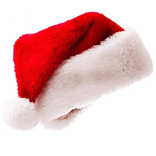 382a8a6c30b09 Vesil Plush Santa Hat for Adult Vintage Christmas Santa Hats Halloween  Costume for Women  Amazon.com.au  Fashion