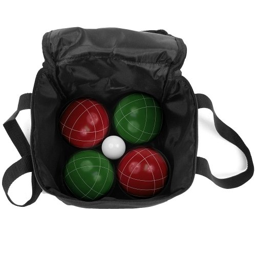 Regulation Size Bocce Ball 10 Peice Set - Includes 8 Balls, 1 Pallino and Carrying Bag! by TMG