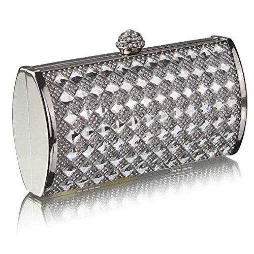 TrendStar - Cartera de mano para mujer Plateado - Silver 7