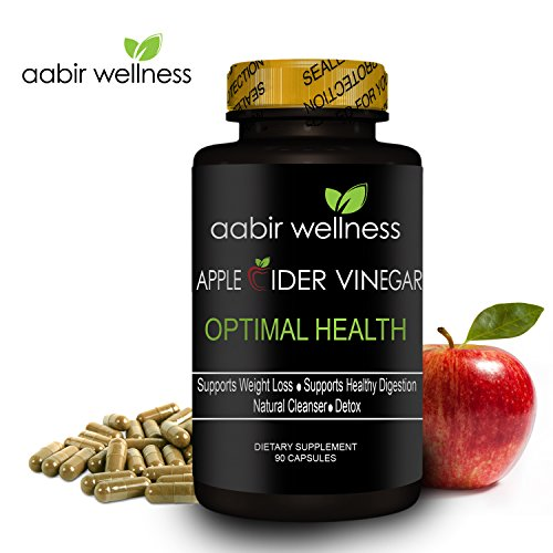 Aabir Wellness - Powerful Apple Cider Vinegar Capsules 350mg - 90 day supply, All Natural Weight Loss, Detox, Digestion & Optimal Health, Powerful Kelp and Spirulina blend, Manufactured in the USA (Garcinia Cambogia Pills And Apple Cider Vinegar Recipe)