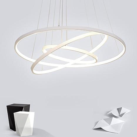 72w Led Pendelleuchte Esstisch Modern Drei Ring Design Lampe Innen Beleuchtung Hangelampe Acryl Kreative Leuchte Dekoration Kronleuchter Fur