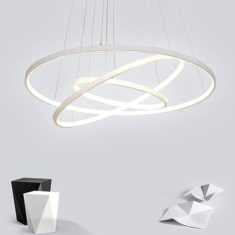 72w led pendelleuchte esstisch modern drei ring design lampe innen beleuchtung hngelampe acryl kreative leuchte einfache - Einfache Dekoration Und Mobel Moderne Heizung Fuer Modernes Wohnen