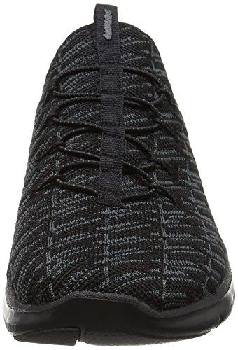 Skechers Flex Appeal 2.0, Zapatillas para Mujer Negro (Black)