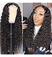 Water Wave Human Hair Wigs Lace Front Wigs for Black Women Human Hair 150% Density Brazilian Wet ...