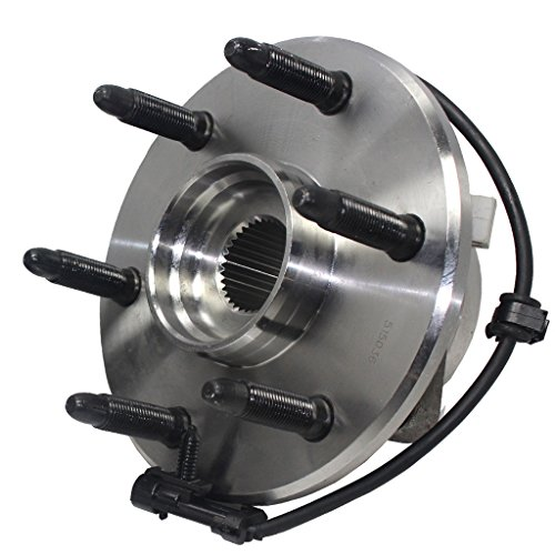 (Detroit Axle- Front Driver or Passenger Side Wheel Hub and Bearing Assembly for 4x4 Models Only - [6-Lug Wheel - 3-Bolt Flange])