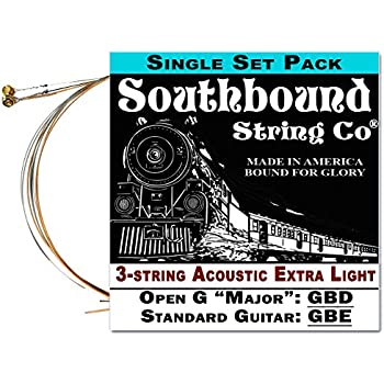 acoustic extra light 3 string cigar box guitar strings open g standard tuning. Black Bedroom Furniture Sets. Home Design Ideas