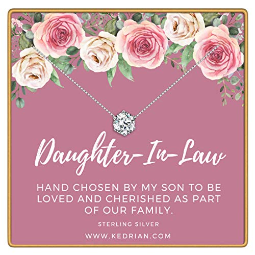KEDRIAN Daughter in Law Necklace, 925 Sterling Silver, Daughter in Law Gifts, for Daughter in Law, Daughter in Law Gifts from Mother in Law, Best Daughter in Law Gift for Women