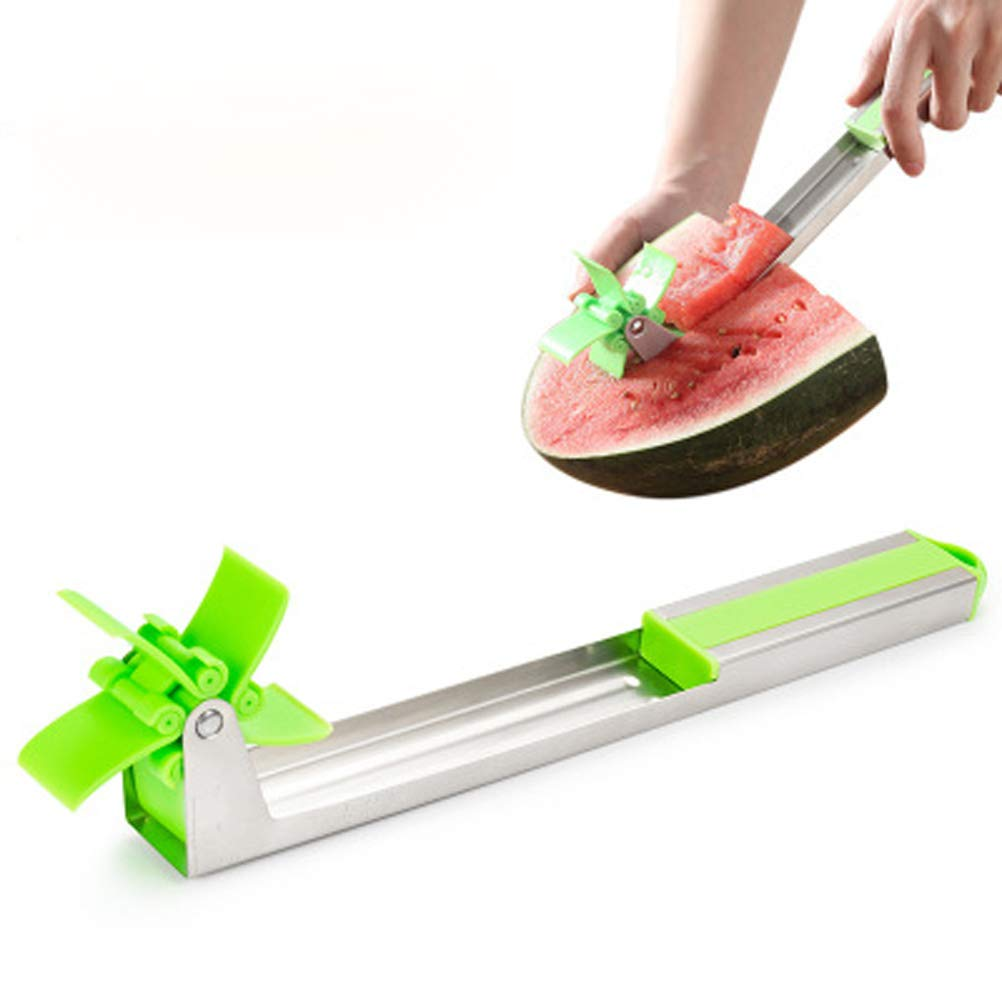 Stainless Steel Watermelon Windmill Cutter-Multifunctional Watermelon Slicer Fruit Tools Kitchen Gadgets