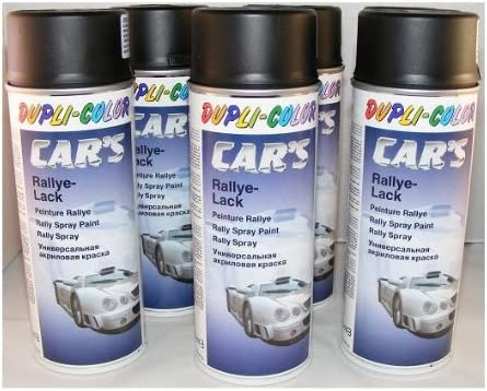 6 x Spraydose Lackspray schwarz matt 400 ml