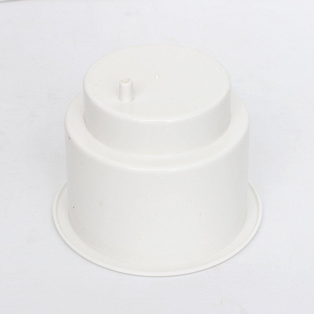 Sharplace 5 Piezas Titular de Bebida Copa Blanco Agujero Lateral Empotrado Para Barco Marino RV