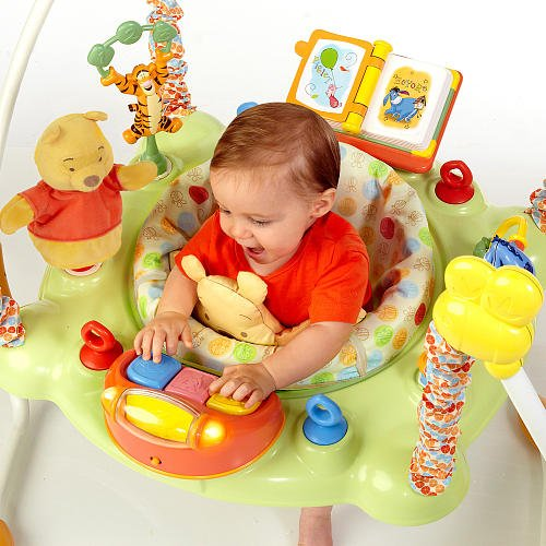 a1ce215c1 Amazon.com   Disney Winnie the Pooh Bouncy Activity Jumper   Baby
