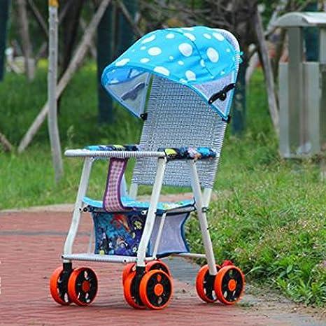 Baby stroller- Carrito de mimbre de bambú de verano Carro plegable ...