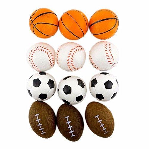 12 Stress Sport Ball Sponge Balls Foam Ball Basketball Football Soccer Baseball by Unknown