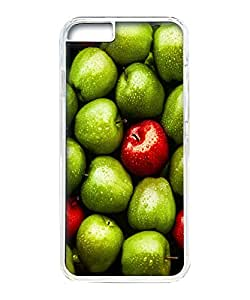 VUTTOO Iphone 6 Case, Green Red Apples PC Hard Case for Apple iPhone 6 4.7 Inch Transparent