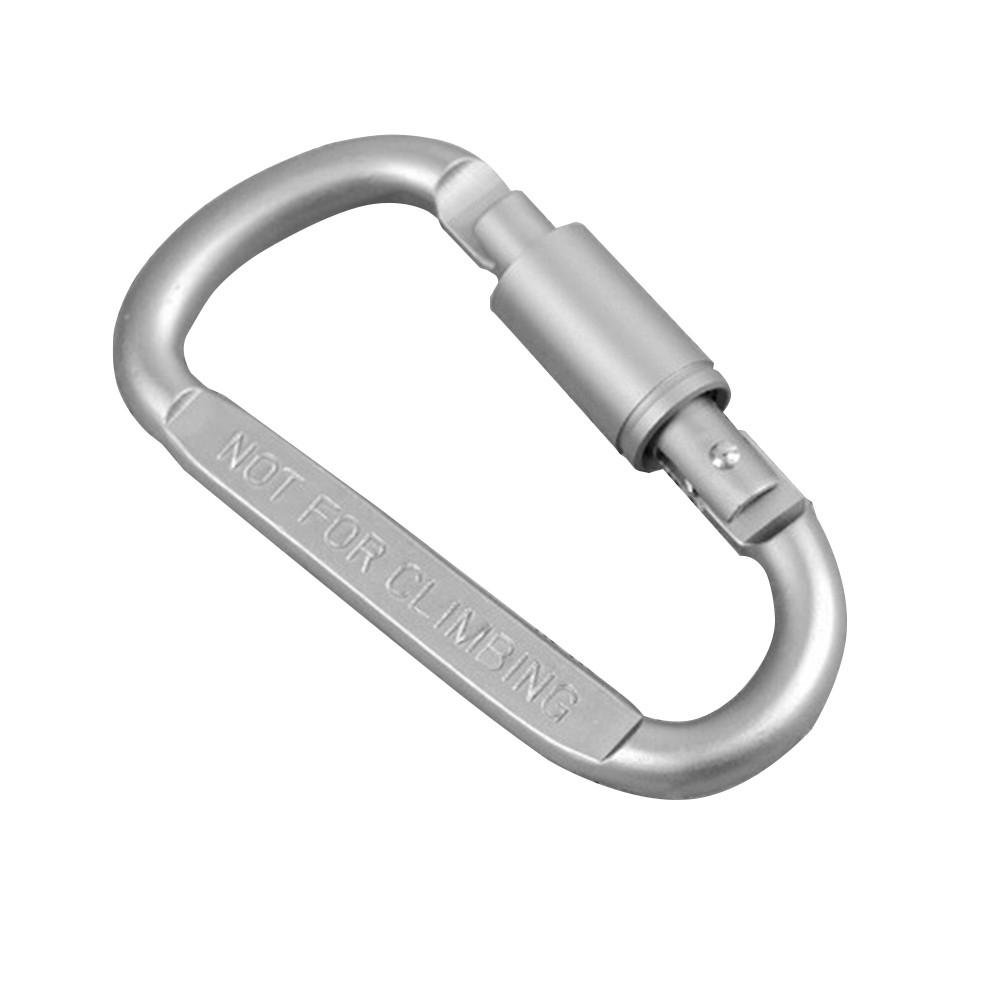 1pcs Titanium Alloy Carabiner D-Ring Key Chain Keychain Clip Hook Outdoor Buckle