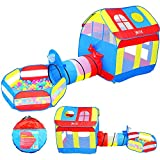 Joyin Toy Pop-up Deluxe Big Play House Play Tent with Tunnel and Pit Ball Pool Playground