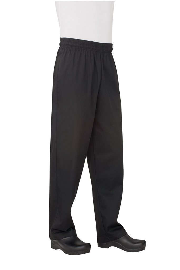 Chef Works Men's Essential Baggy Chef Pant, Black, 2X-Large