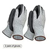 Garden Gloves Two packs for Women and Men Super Grippy with Special Protective Coating Against Cuts and Dirt Premium Breathable Waterproof Work Glove for Gardening, Fishing, Clamming, Restoration Work