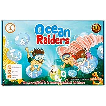 Logic Roots OCEAN RAIDERS Math Addition Board Game
